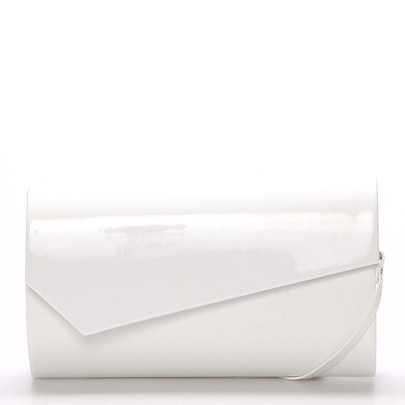 Velké stylové dámské psaníčko bílé matné - Delami Charlien