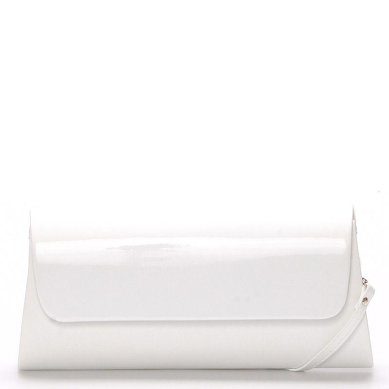 Luxusní velké dámské psaníčko bílé matné - Delami Chicago