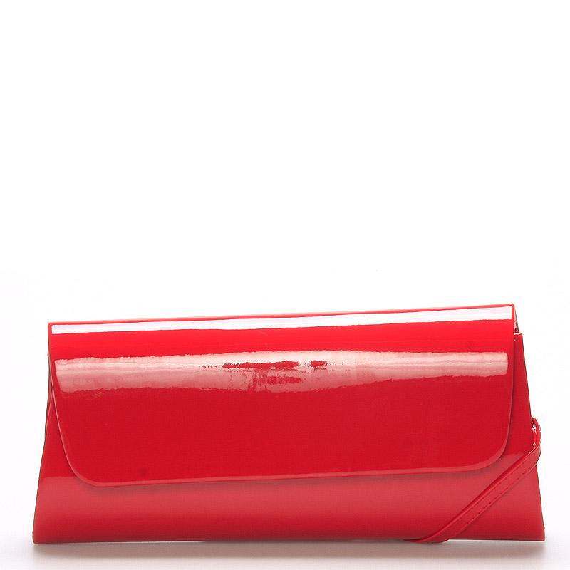 Luxusní velké dámské psaníčko červené lesklé - Delami Chicago