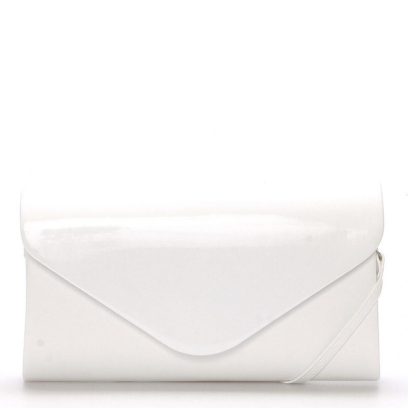 Luxusní velké dámské psaníčko bílé matné - Delami LasVegas