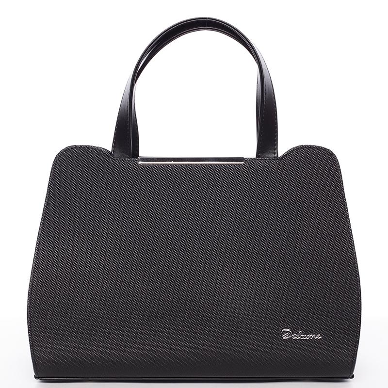 Dámská elegantní kabelka do ruky matná černá - Delami Helene