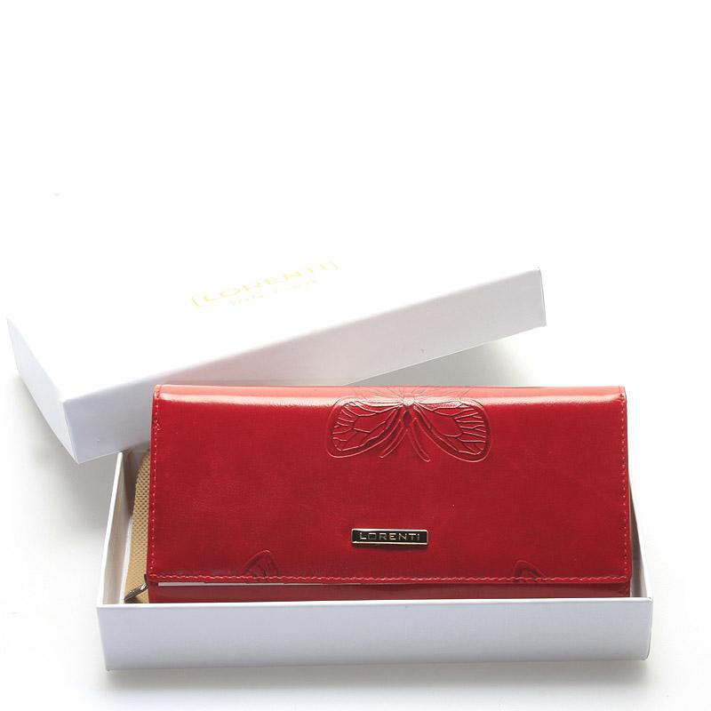 Dámská červená kožená peněženka - Lorenti Chiara