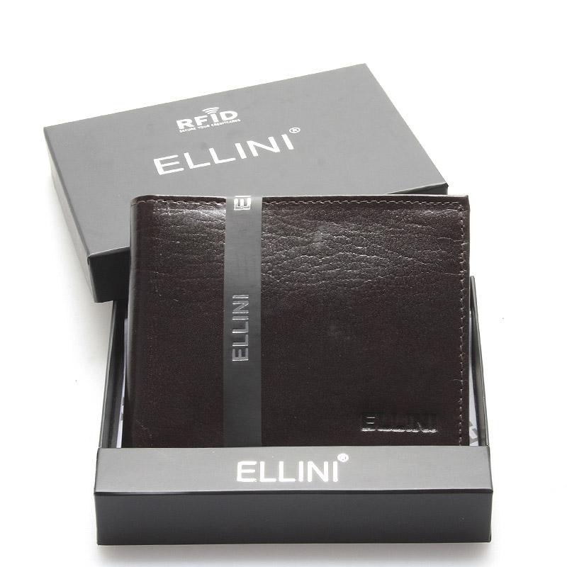 Pánská peněženka čokoládově hnědá - Ellini Valentino