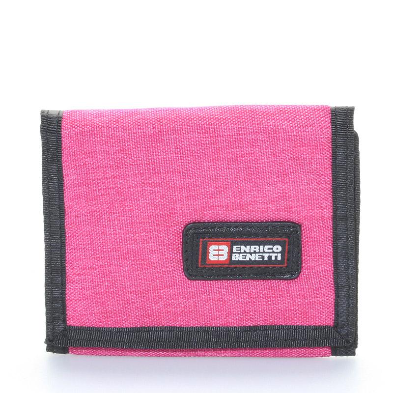 Peněženka látková růžová - Enrico Benetti 4500