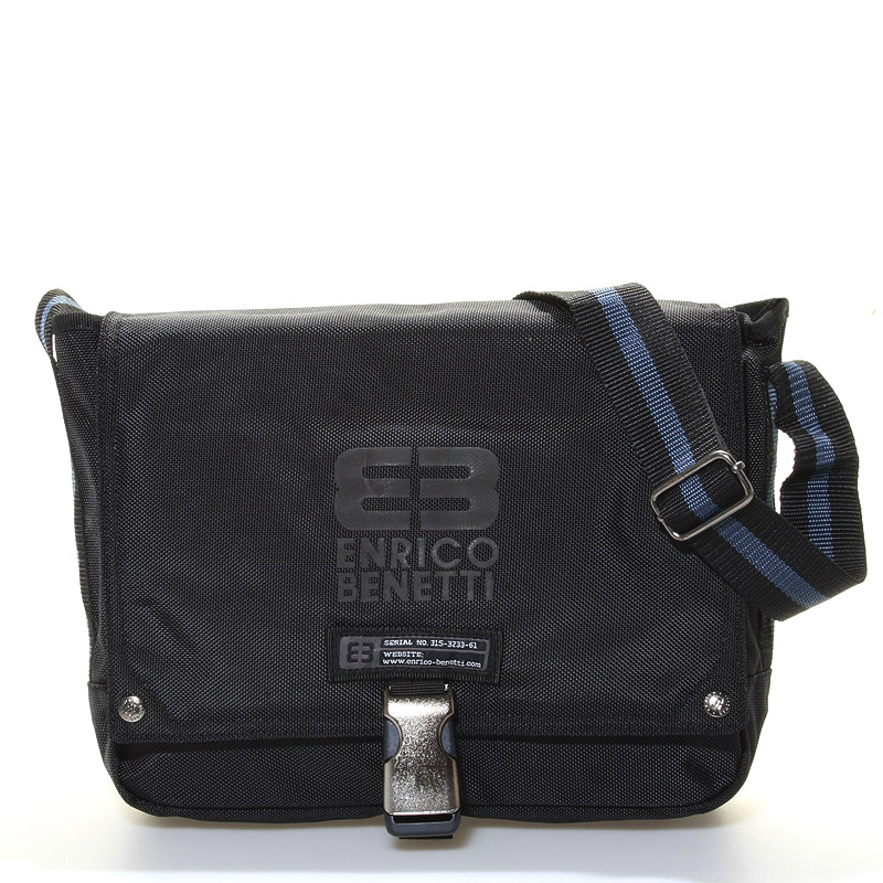 Černá taška přes rameno Enrico Benetti 4476