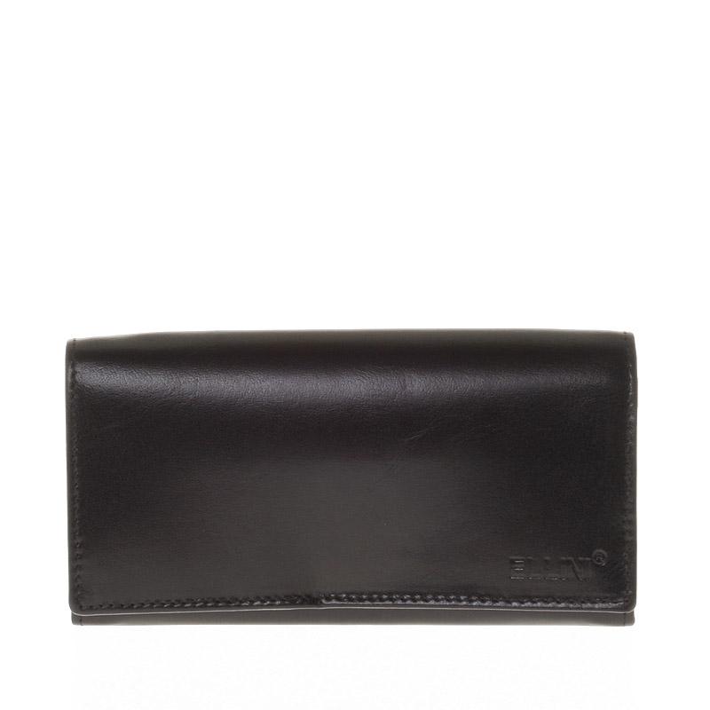 Dámská černá kožená peněženka - Ellini Sara