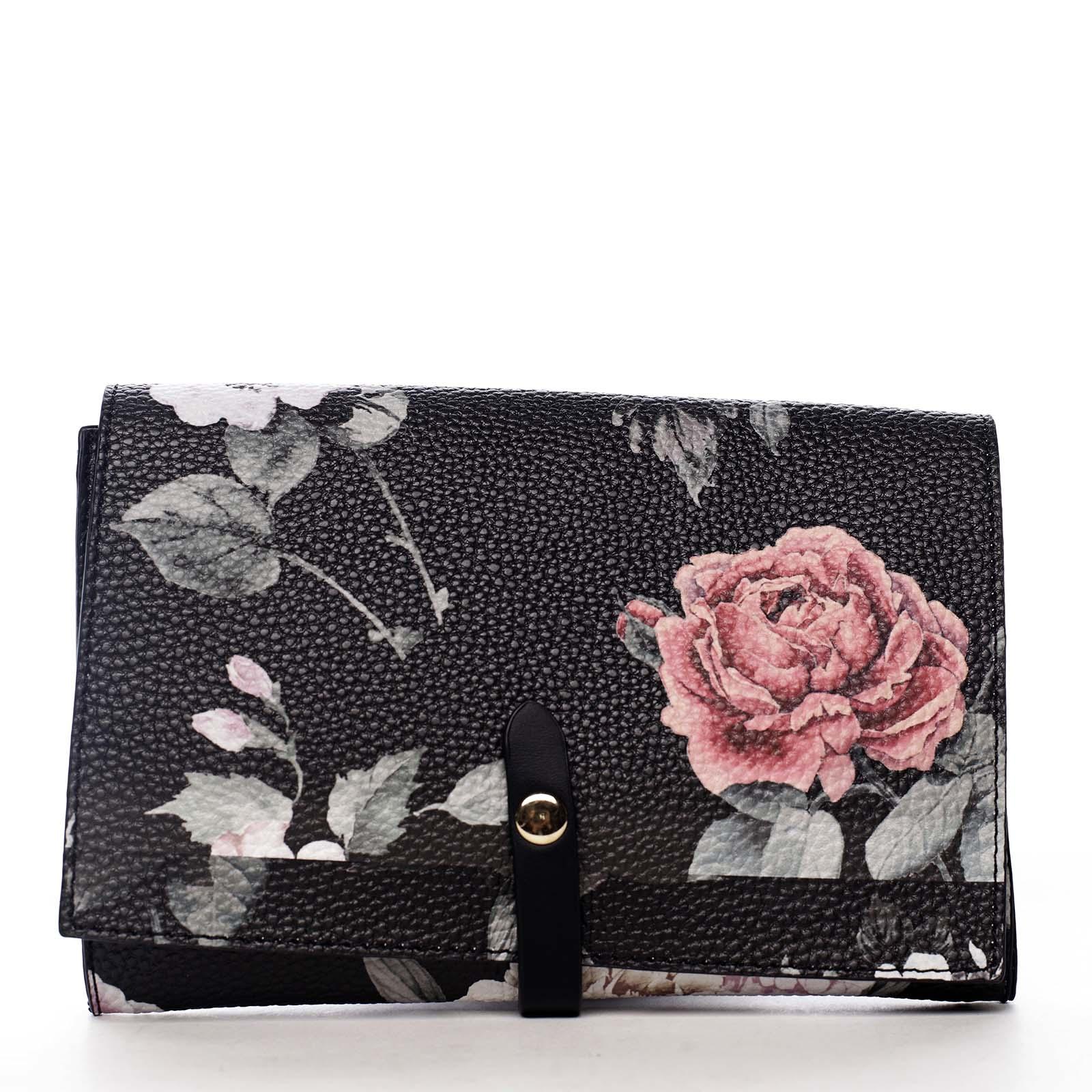 Dámské květované psaníčko černé - DIANA & CO Flouw
