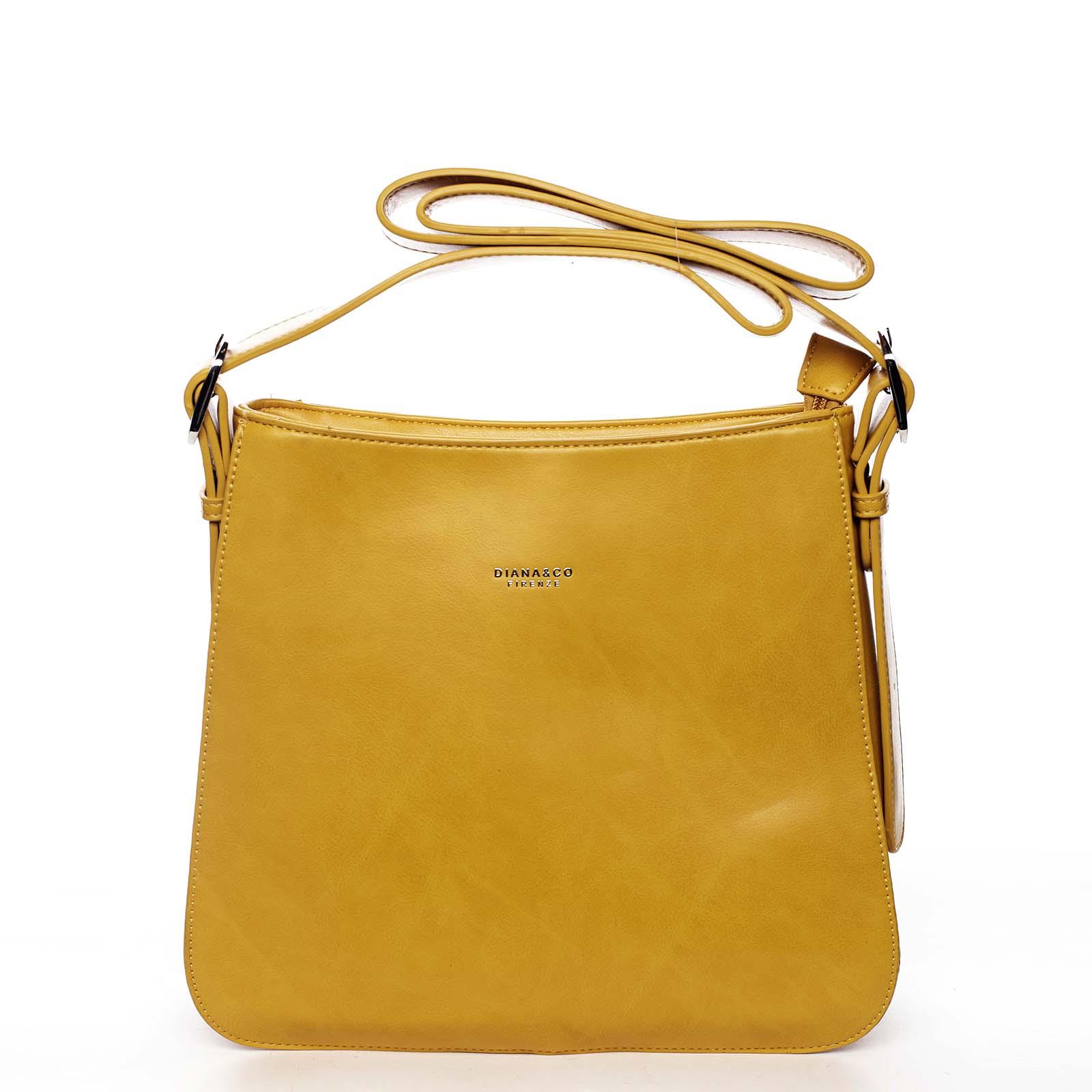 Dámská kabelka přes rameno žlutá - DIANA & CO Jiansis