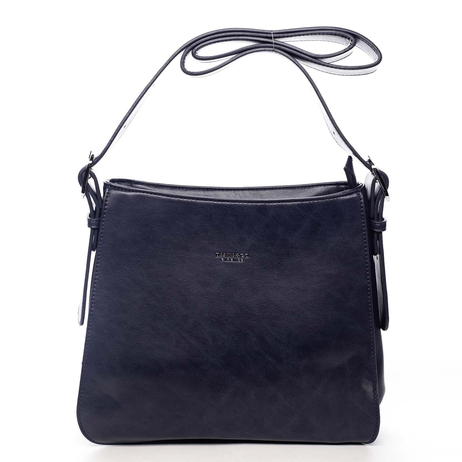 Dámská kabelka přes rameno tmavě modrá - DIANA & CO Jiansis