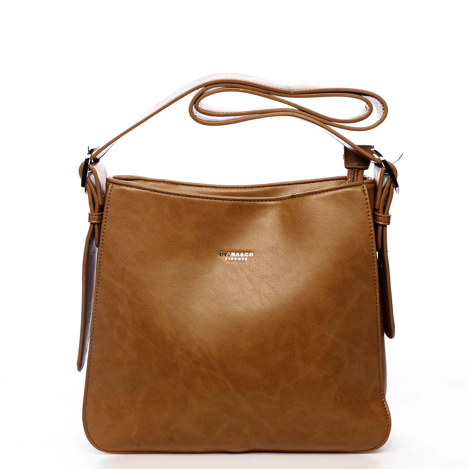 Dámská kabelka přes rameno světle hnědá - DIANA & CO Jiansis