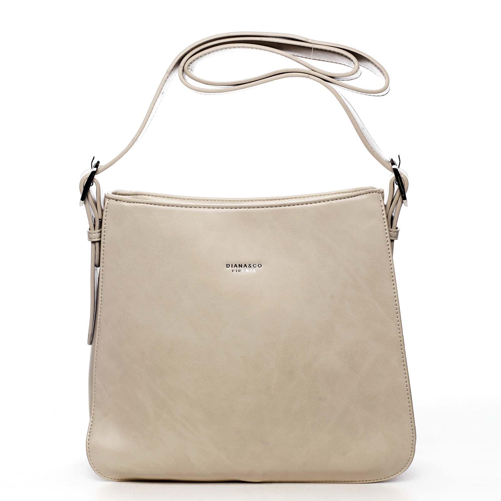 Dámská kabelka přes rameno béžová - DIANA & CO Jiansis