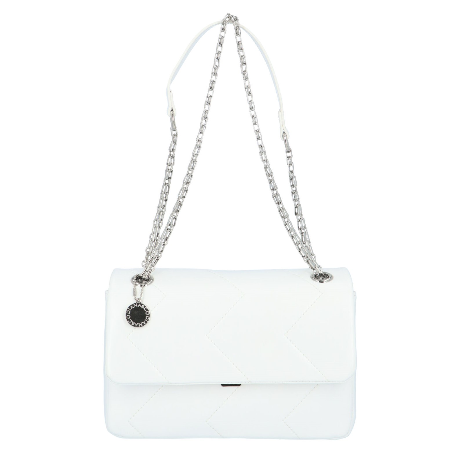Dámská kabelka přes rameno bílá - DIANA & CO Threethre