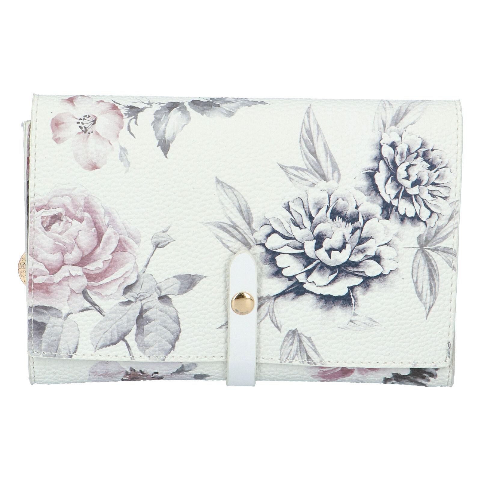 Dámské květované psaníčko bílé - DIANA & CO Flouw