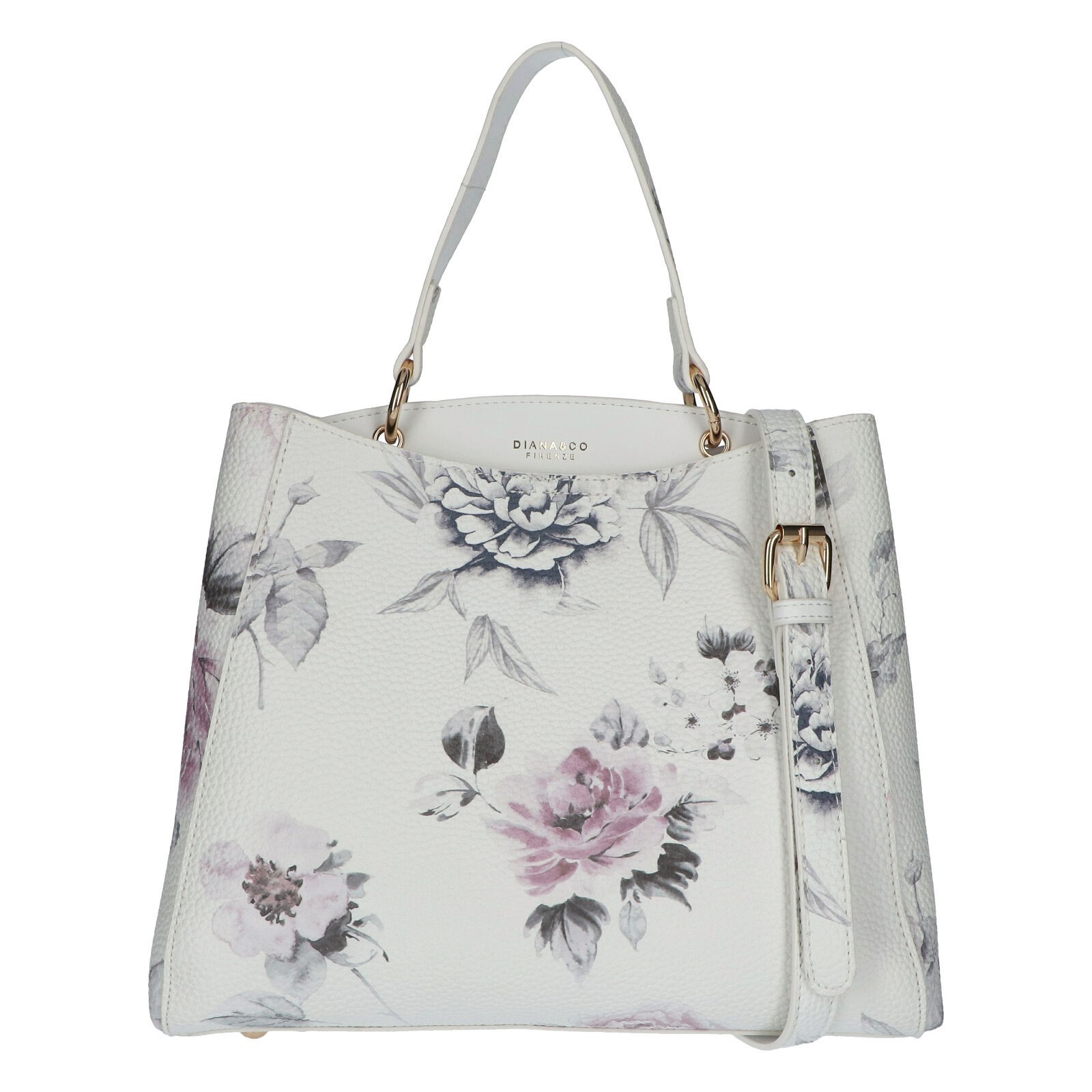 Dámská kabelka přes rameno bílá - DIANA & CO Florentina