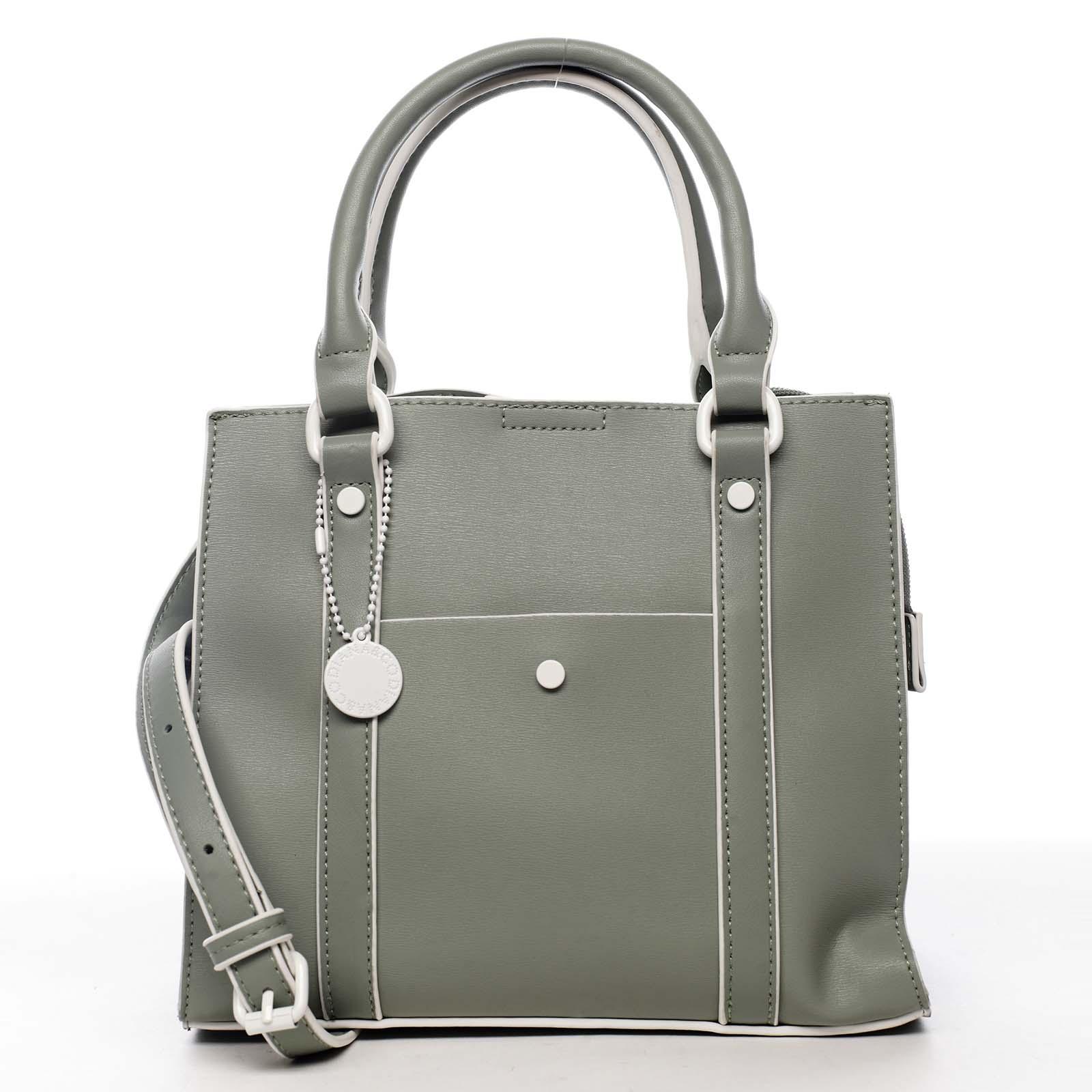 Dámská kabelka bledě zelená - DIANA & CO Cerendia