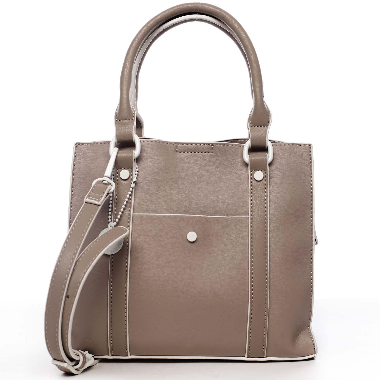 Dámská kabelka tmavě béžová - DIANA & CO Cerendia