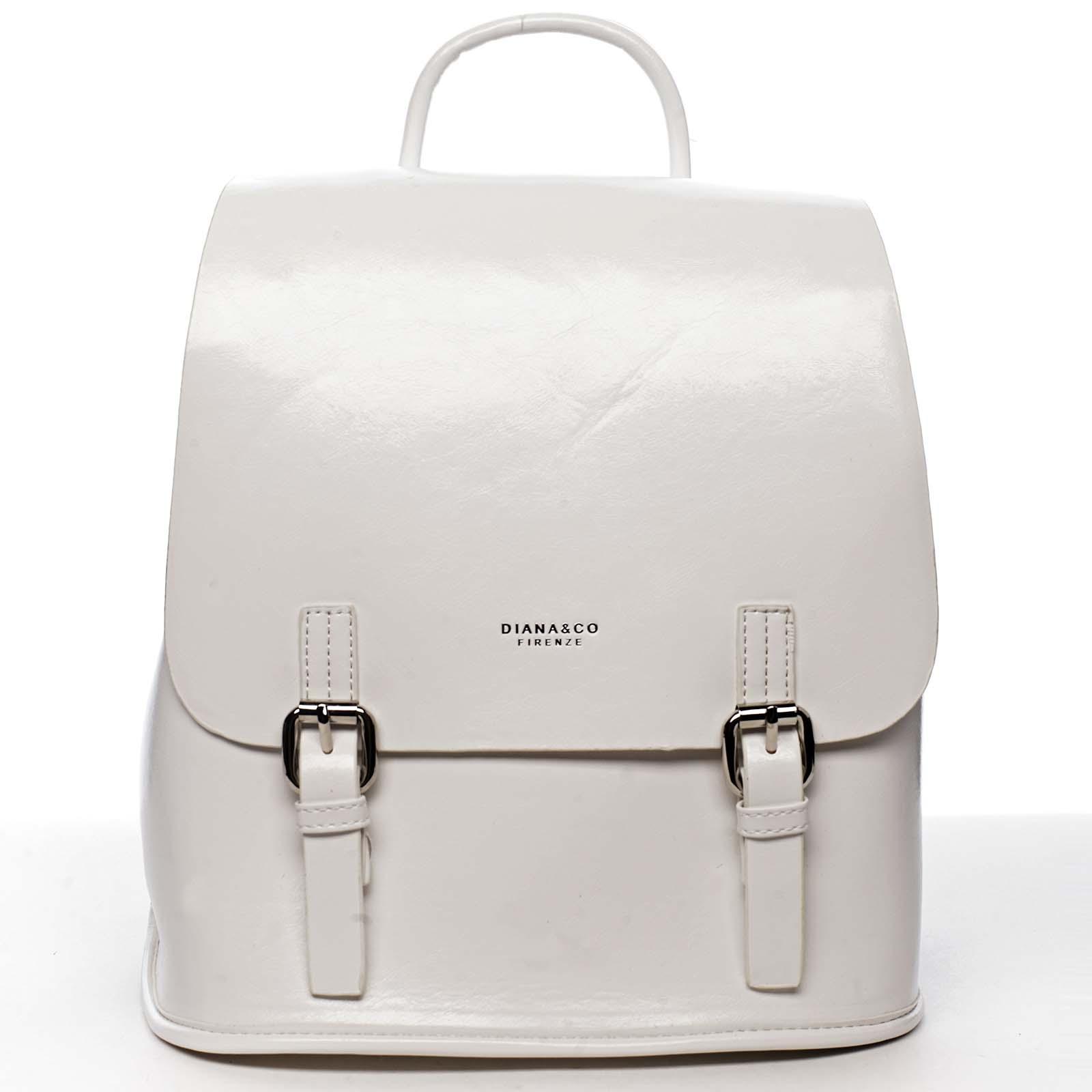 Dámský městský batoh bílý - DIANA & CO Bretcho