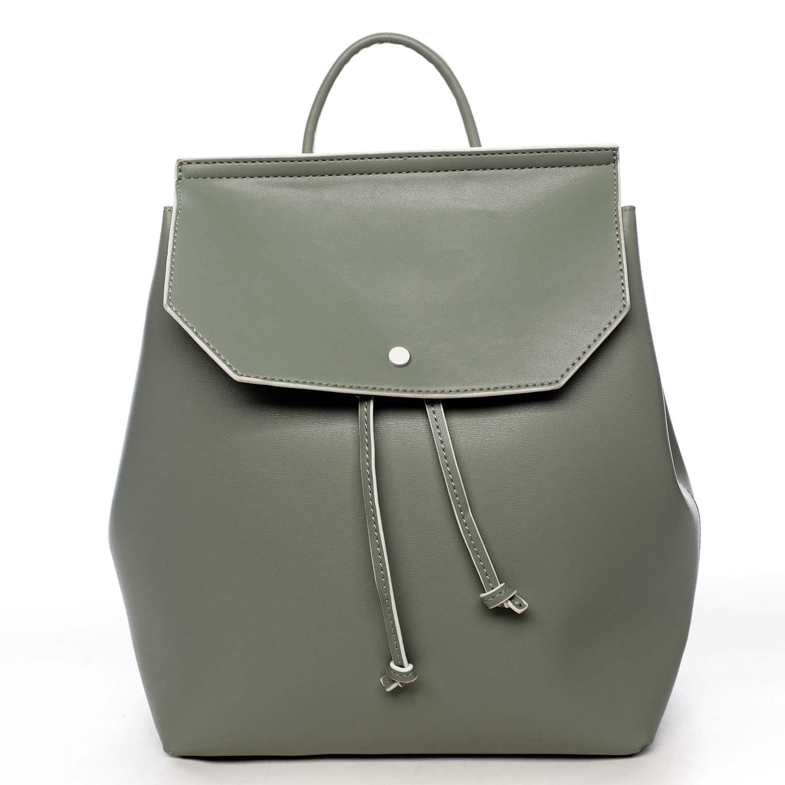 Dámský městský batoh bledě zelený - DIANA & CO Cerendinok