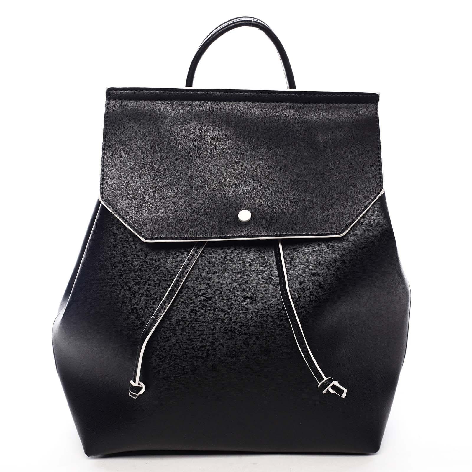 Dámský městský batoh černý - DIANA & CO Cerendinok