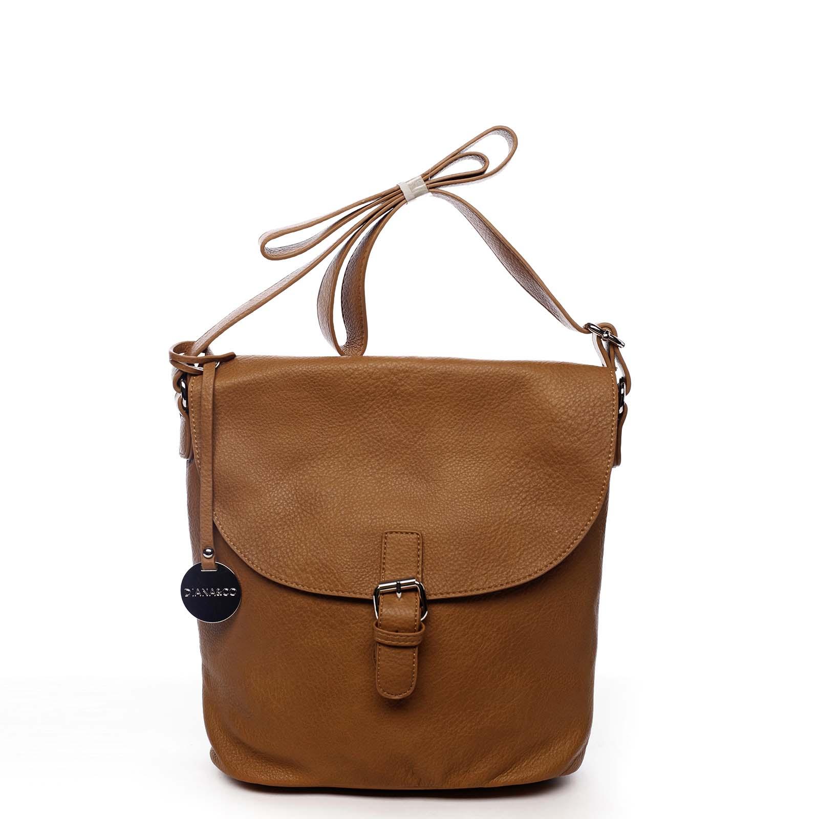 Dámská kabelka přes rameno světle hnědá - DIANA & CO Leilla