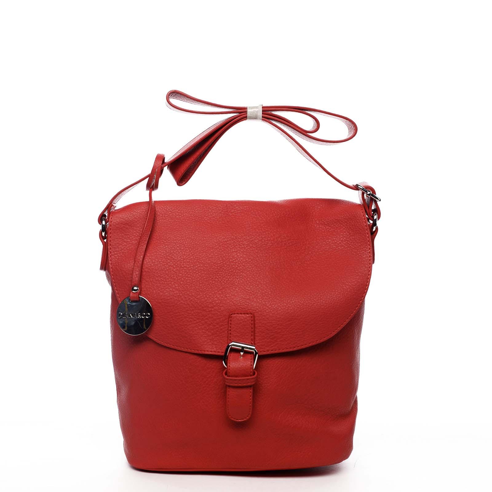 Dámská kabelka přes rameno červená - DIANA & CO Leilla