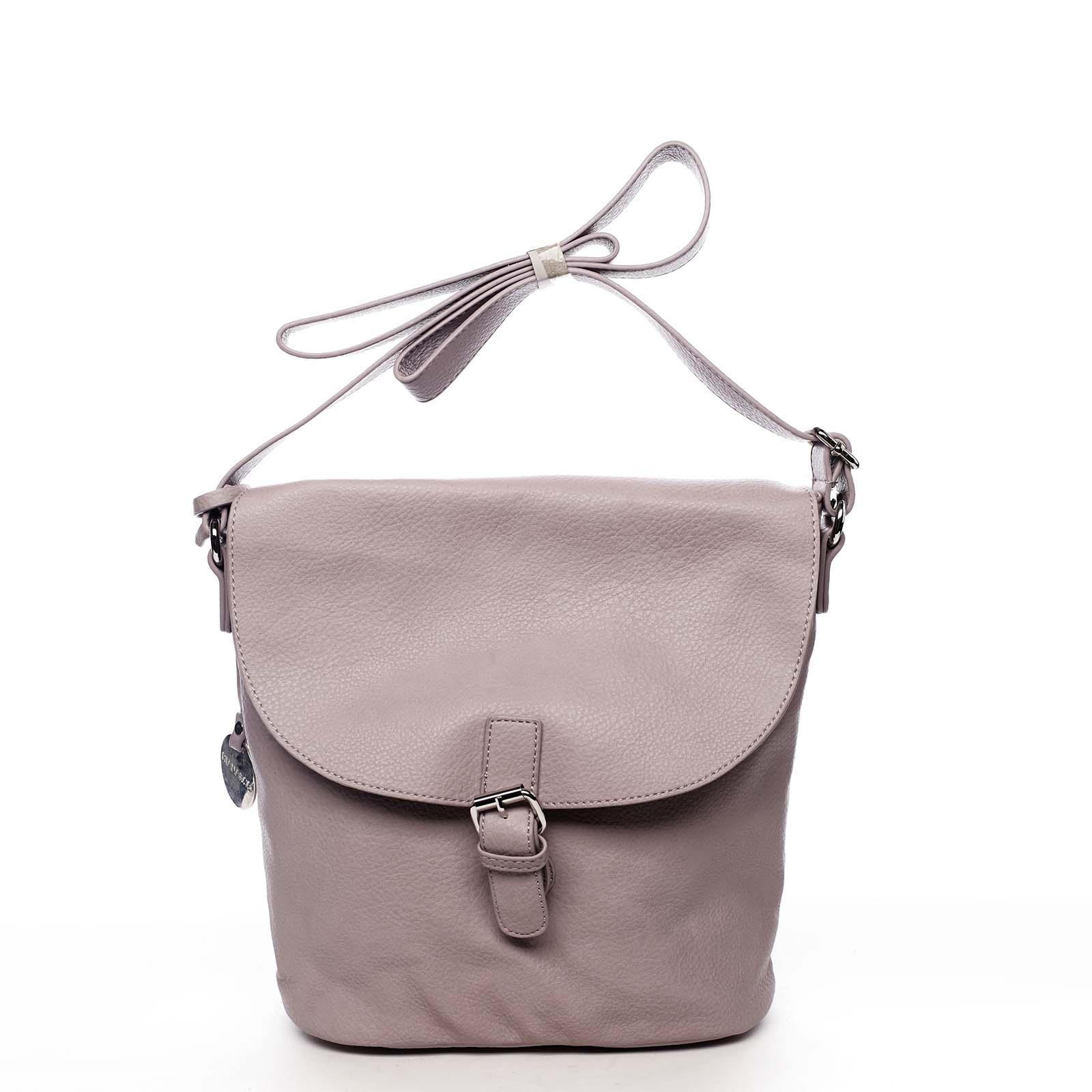 Dámská kabelka přes rameno světle fialová - DIANA & CO Leilla
