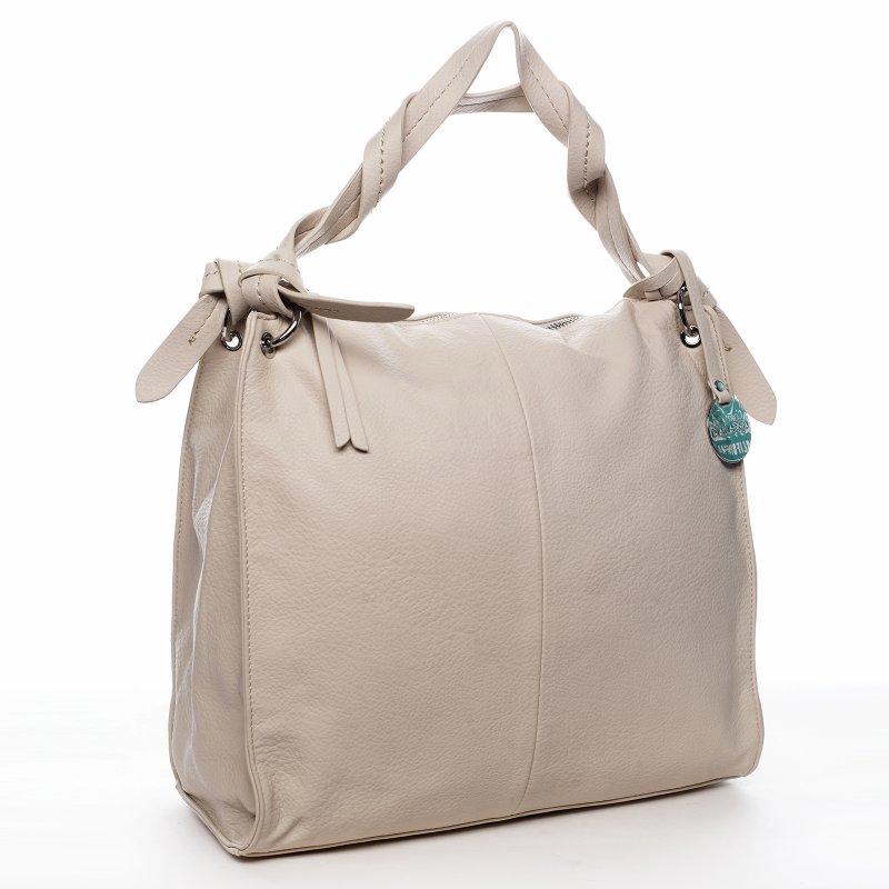 Dámská kabelka přes rameno béžová - DIANA & CO Franczeska