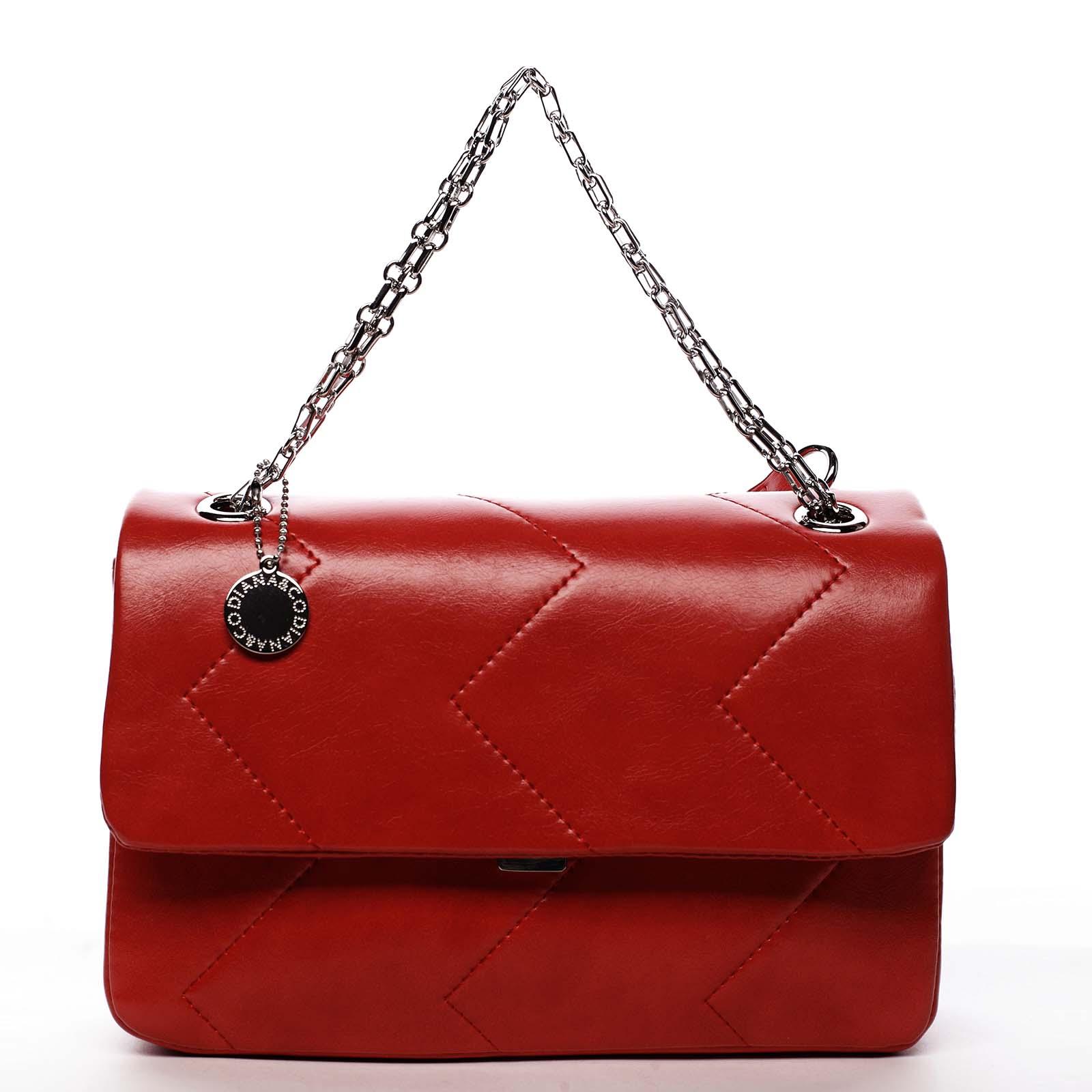 Dámská kabelka přes rameno červená - DIANA & CO Threethre