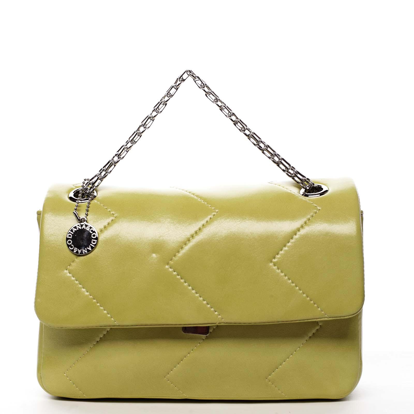 Dámská kabelka přes rameno žlutá - DIANA & CO Threethre
