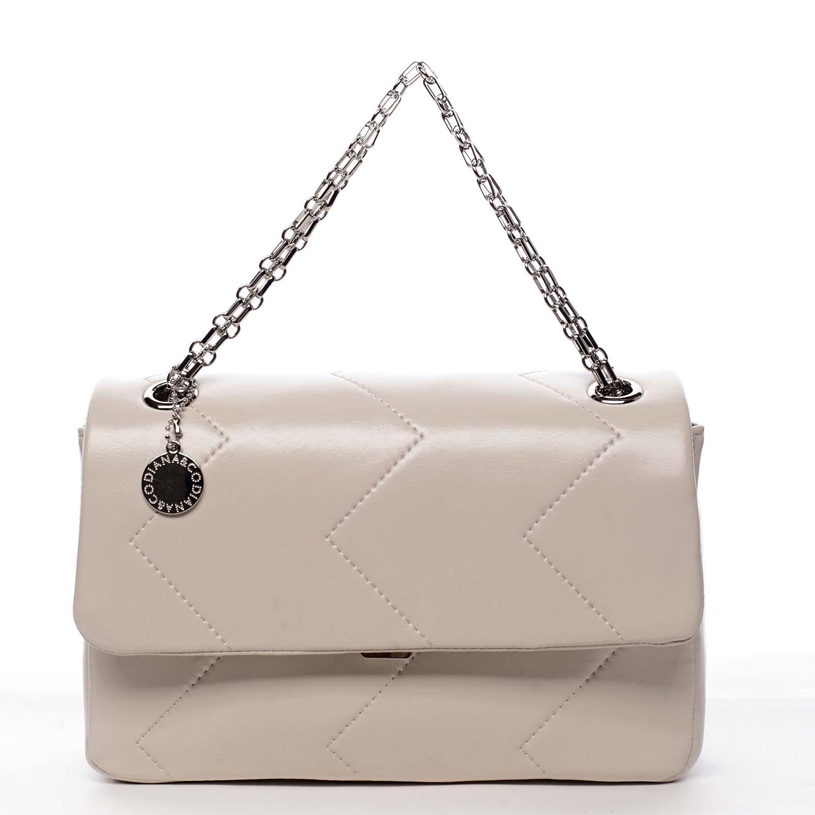 Dámská kabelka přes rameno béžová - DIANA & CO Threethre