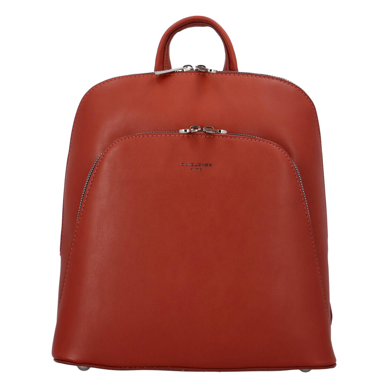 Dámský městský batoh cihlově červený - David Jones Yordan