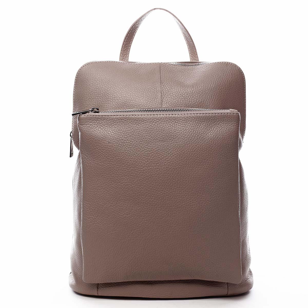 Dámský kožený batůžek kabelka starorůžový - ItalY Houtel