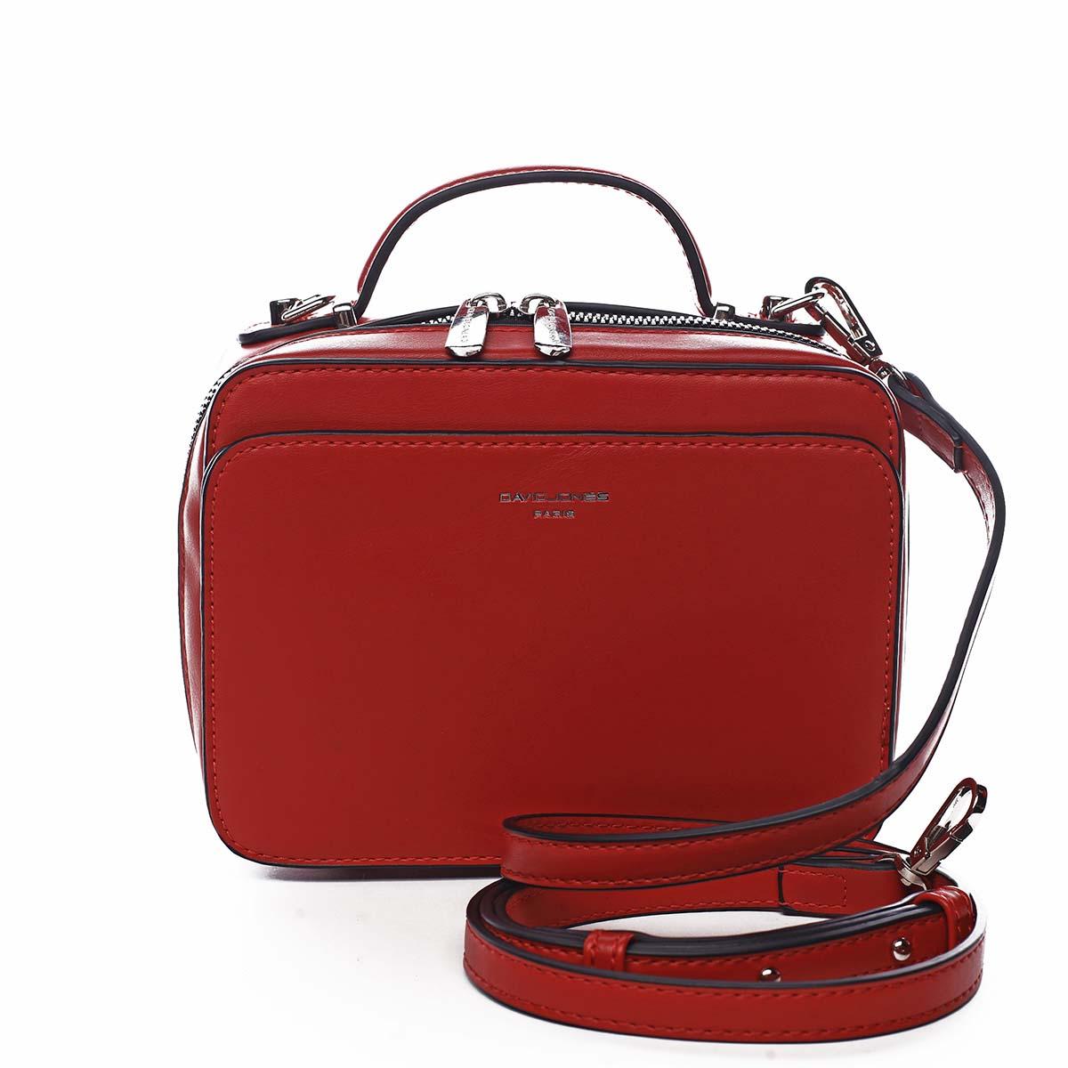 Dámská kabelka červená - David Jones Zara