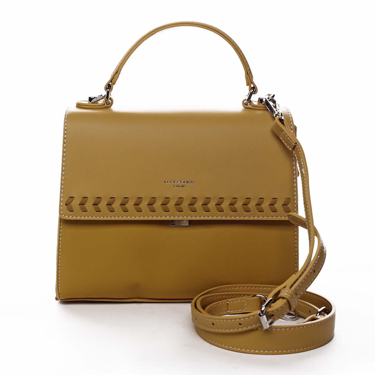 Dámská kabelka do ruky žlutá - David Jones Todeep