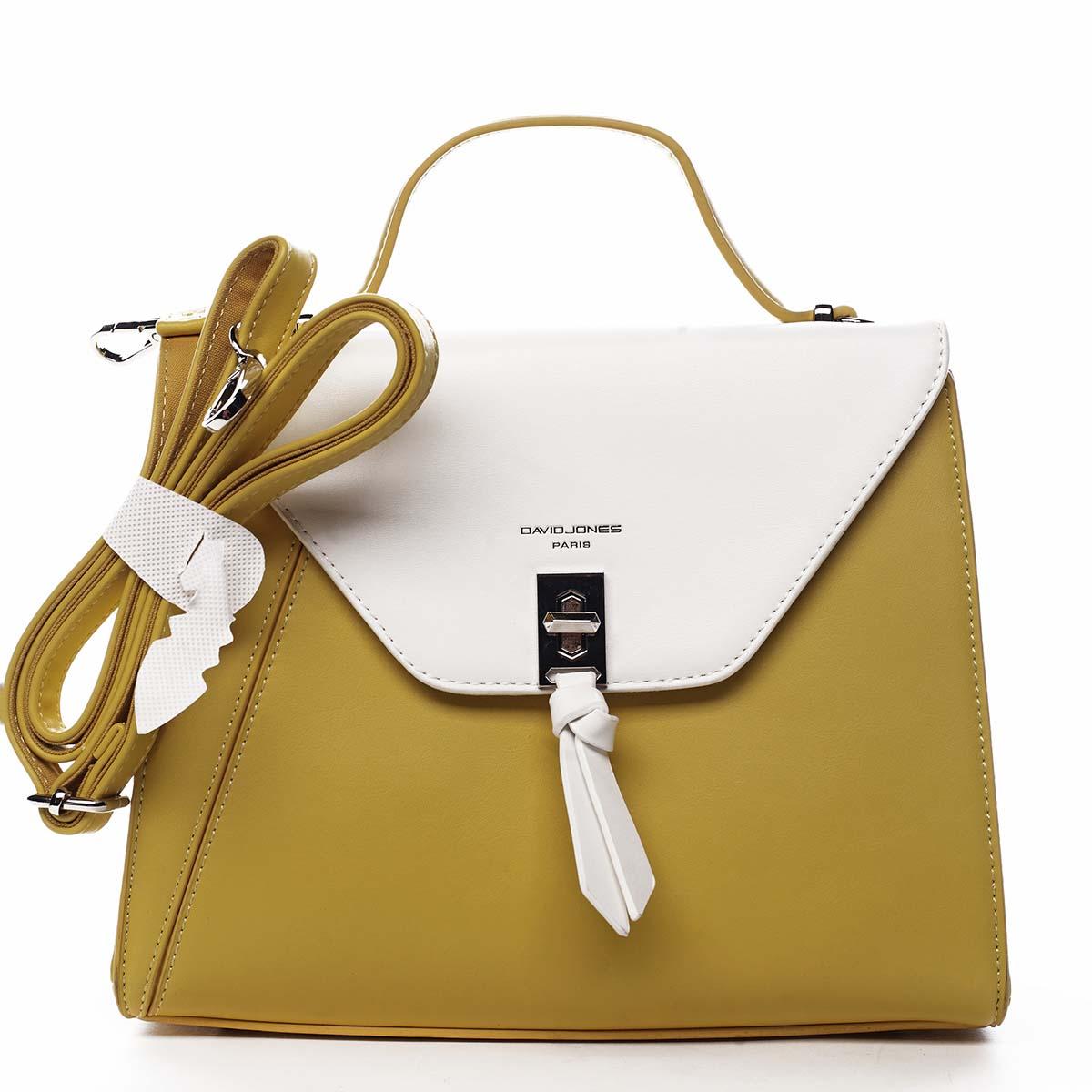 Dámská kabelka do ruky žlutá - David Jones Zapida