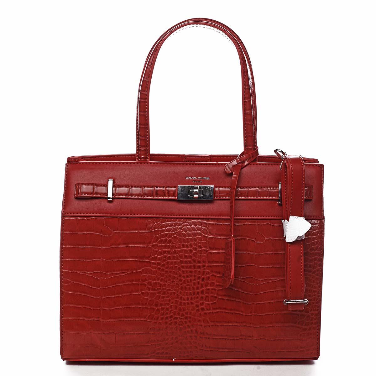 Dámská kabelka přes rameno červená - David Jones Devriese