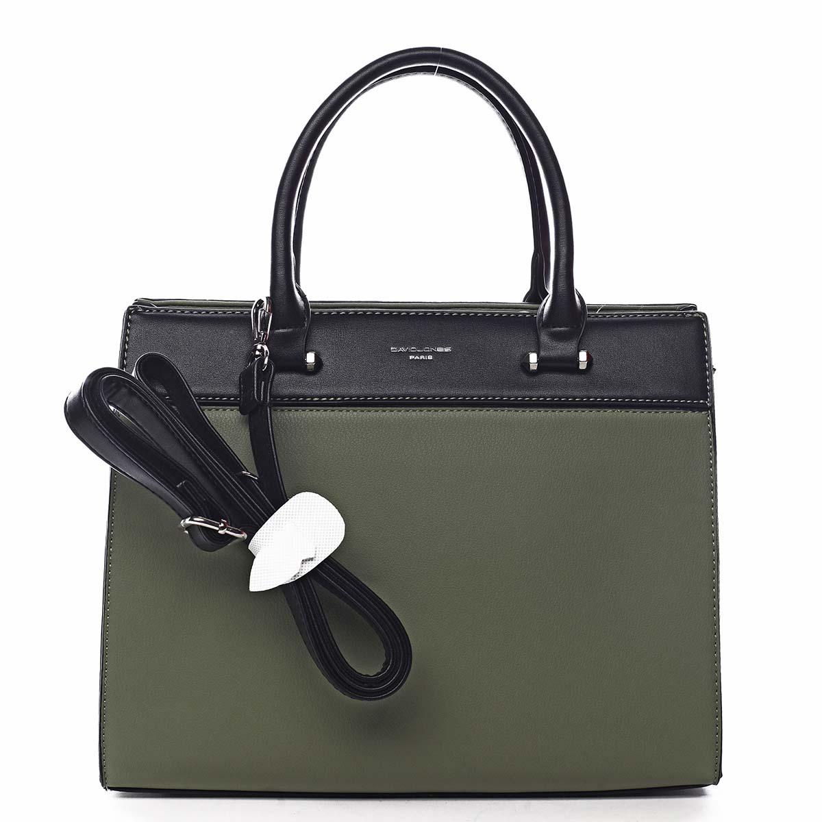 Dámská kabelka do ruky zelená - David Jones Tenerwa