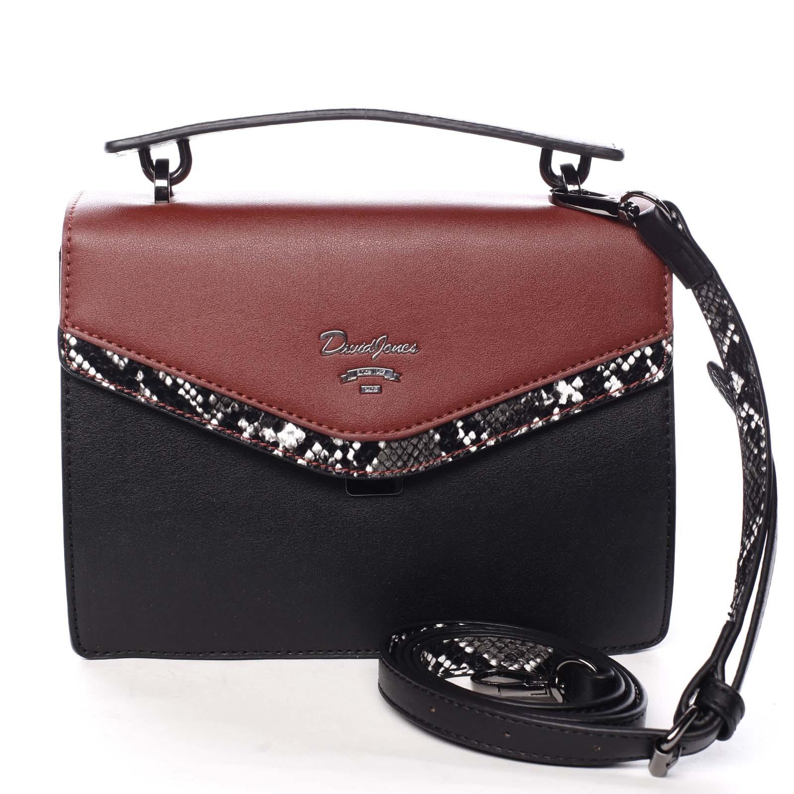 Dámská kabelka do ruky černo červená - David Jones Scarlett