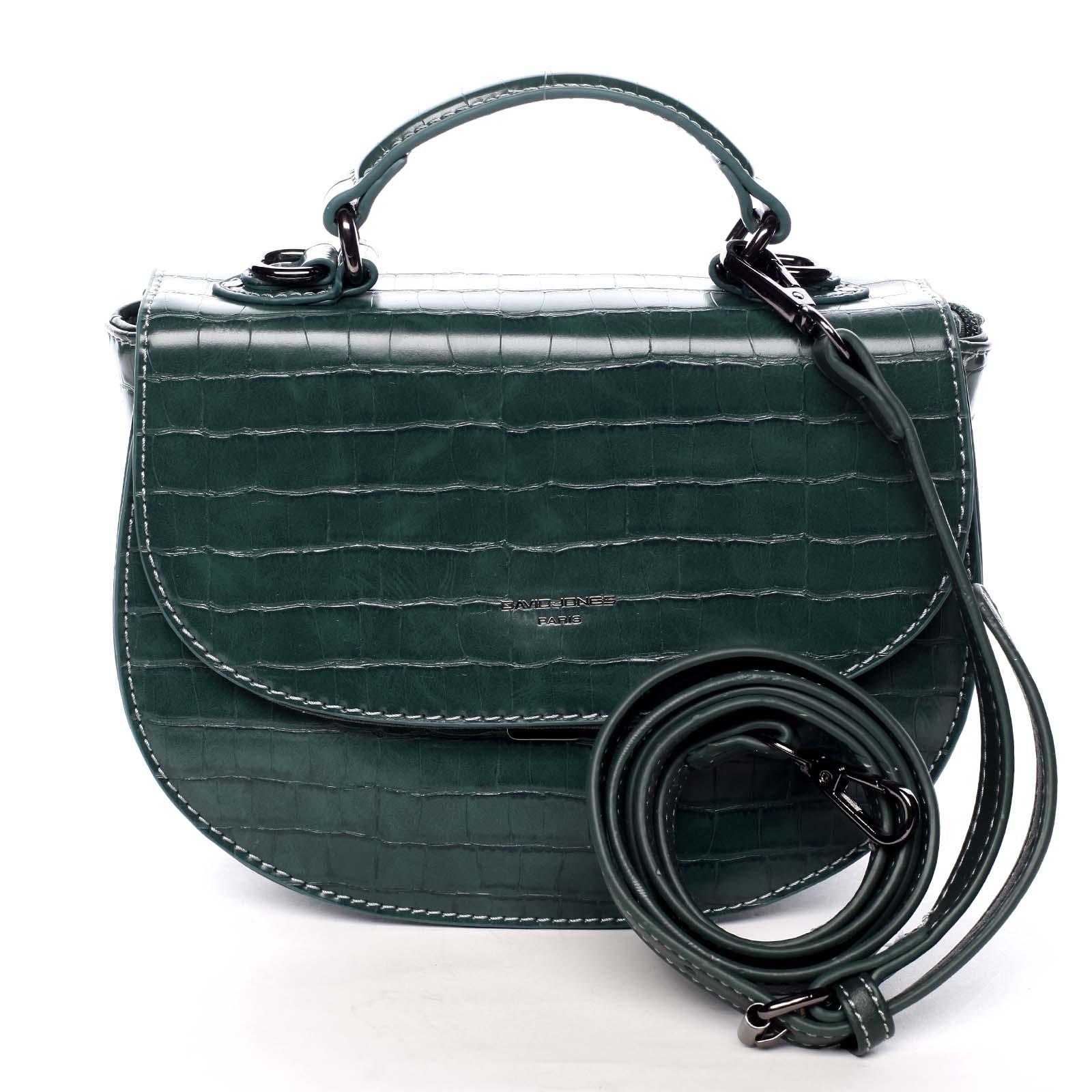 Dámská kabelka do ruky zelená - David Jones Cosette