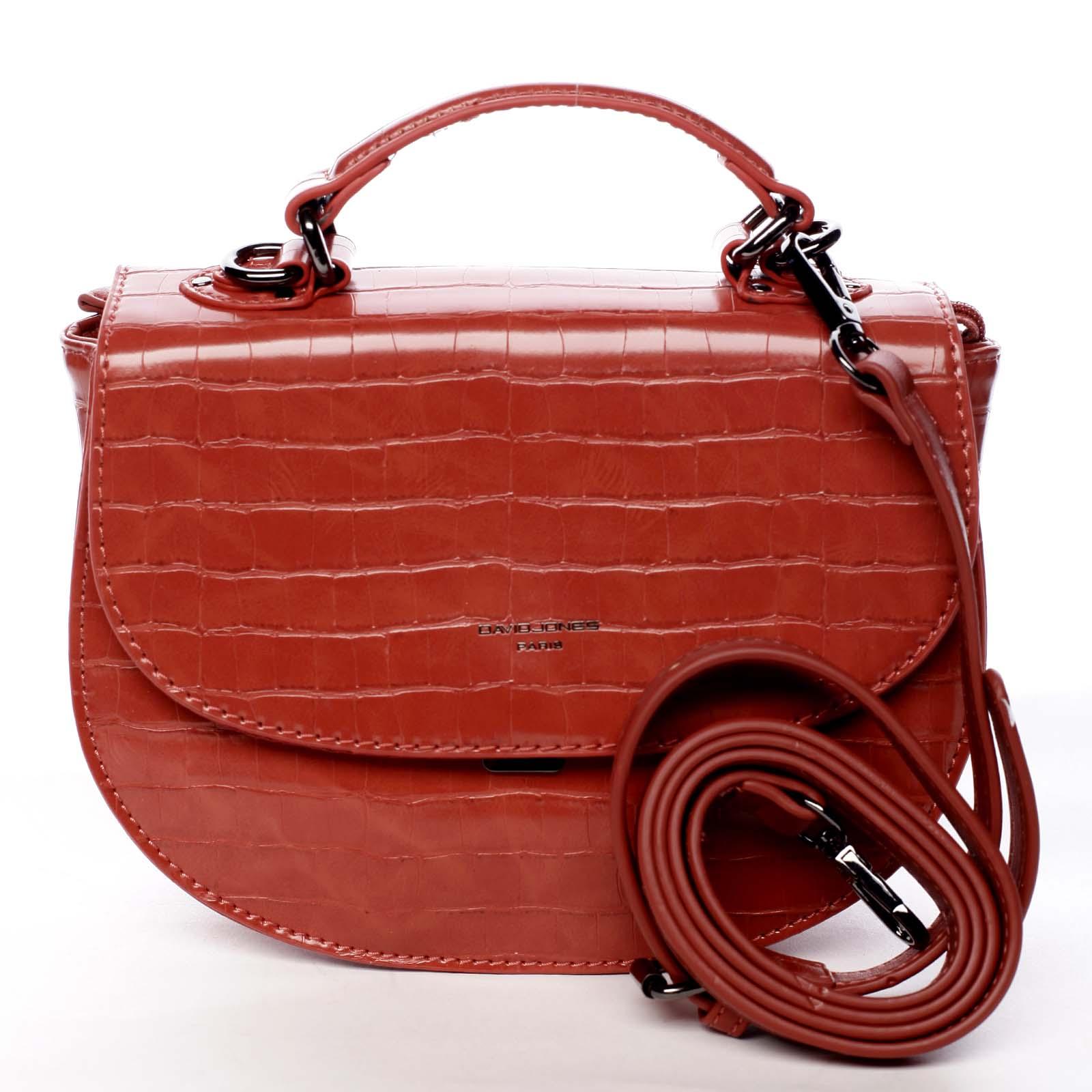 Dámská kabelka do ruky červená - David Jones Cosette