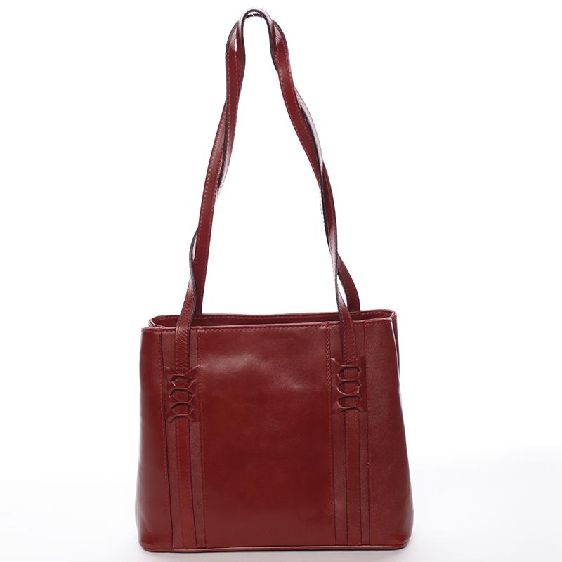 Červená kožená kabelka přes rameno - ItalY Zosima