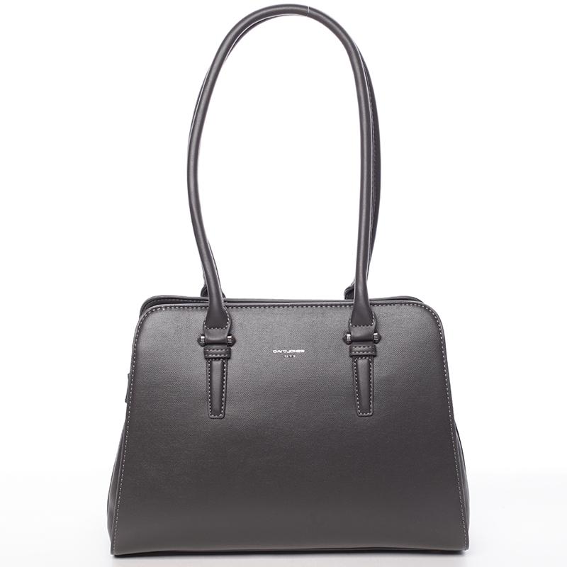 Elegantní dámská tmavě šedá kabelka přes rameno - David Jones Jade