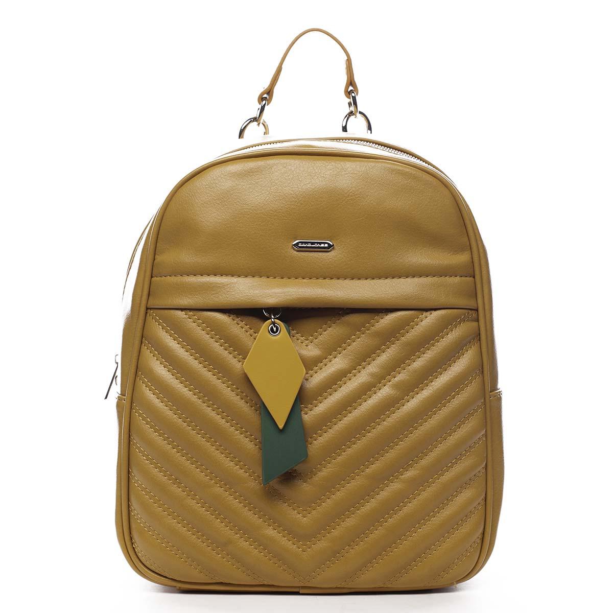 Dámský batoh žlutý - David Jones Ullyus