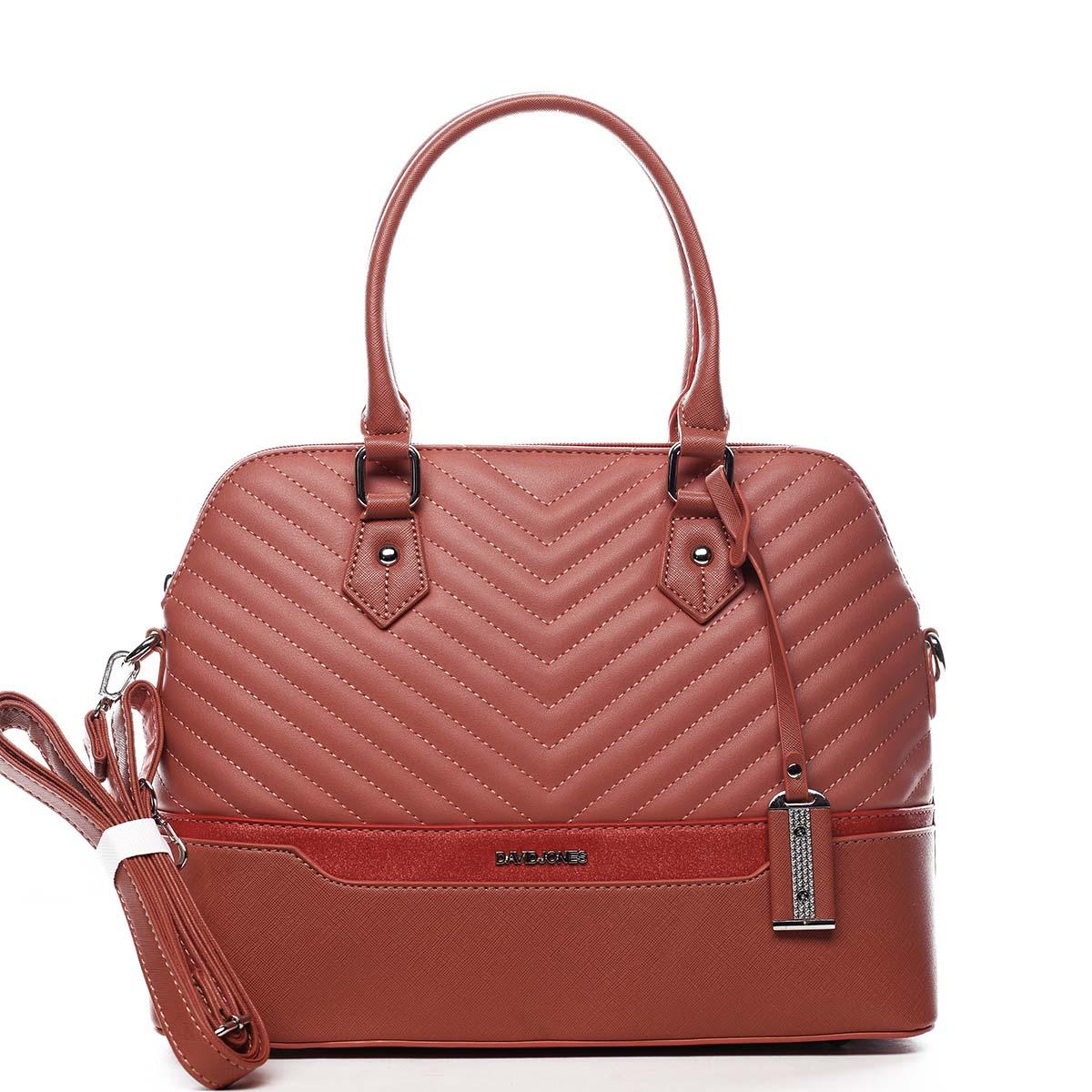 Dámská kabelka do ruky růžová - David Jones Roshel
