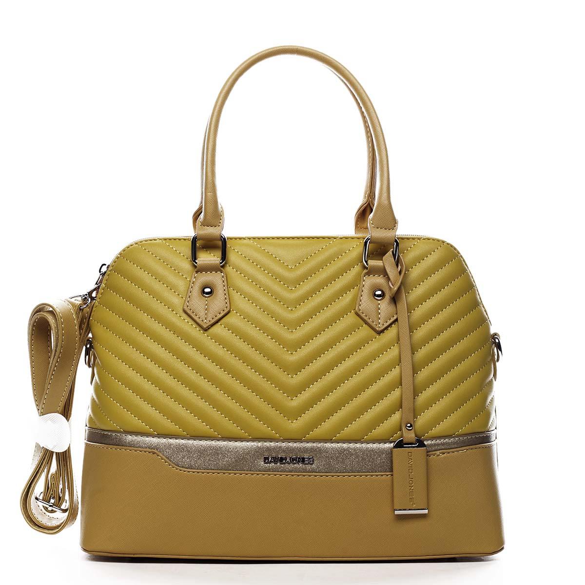 Dámská kabelka do ruky žlutá - David Jones Roshel