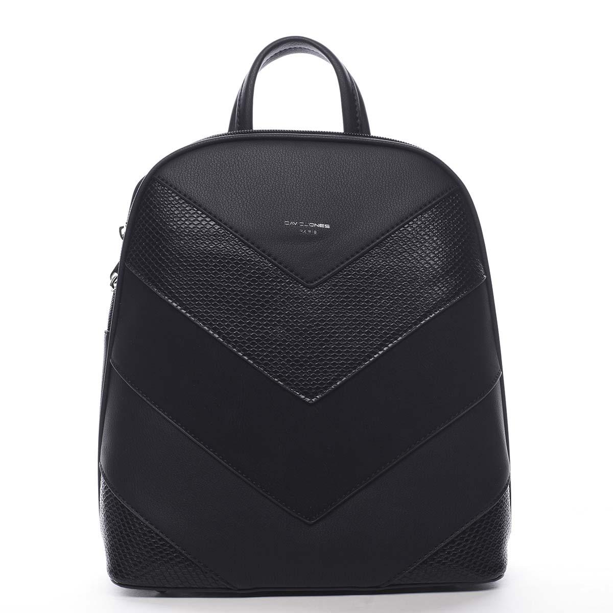 Dámský městský batoh černý - David Jones JeanBell