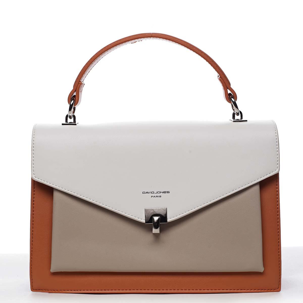 Dámská kabelka do ruky oranžová - David Jones Holeruge