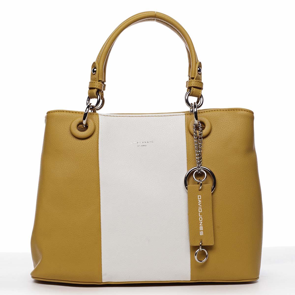 Dámská kabelka do ruky žlutá - David Jones Valentina