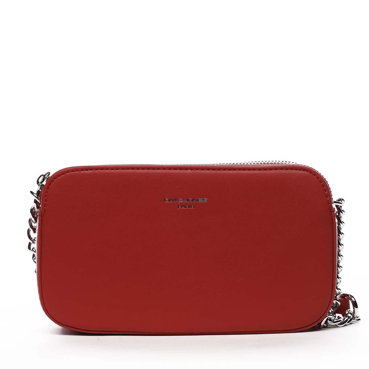 Malá dámská crossbody kabelka červená - David Jones Lily