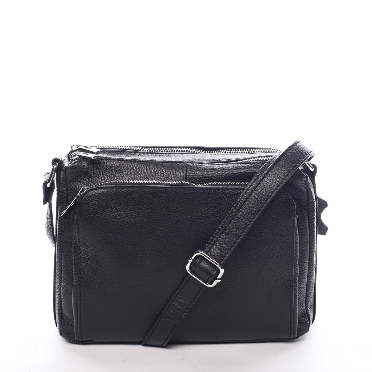 Dámská kožená crossbody kabelka černá - ItalY Bandit